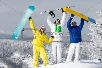 Joyful guys