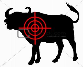 African buffalo crosshair