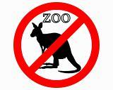 Kangaroo in zoo prohibited