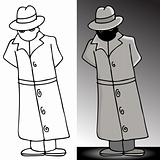 Mysterious Trench Coat Man