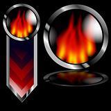 Flame Button Arrow