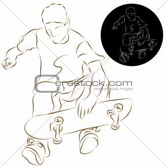 Skateboard Stunt Rider