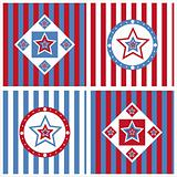 cute american colored stars backgrounds