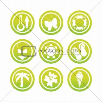 green beach signs