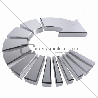 Chrome Circular Arrow