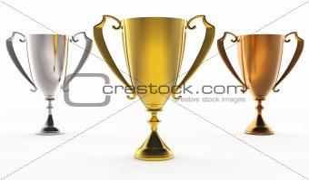 3 trophies
