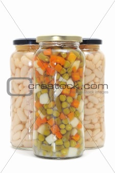 canned legume and vegetables