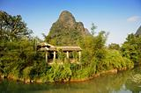 Beautiful Karst mountain landscape in Yangshuo Guilin, China