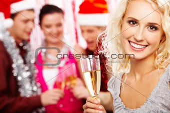 Girl with champagne