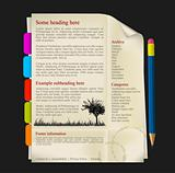Web site template - sheet of paper