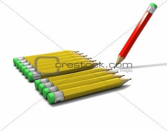 a set of pencils