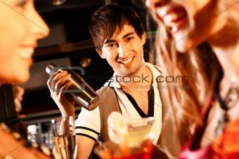 Happy barman