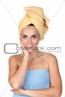 Beautiful girl with towel
