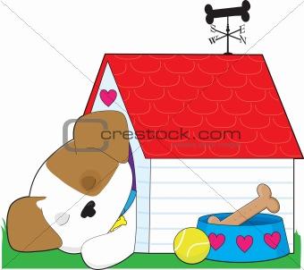 Cute Puppy Dog House