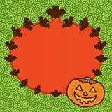 Halloween Pumpkin Frame Background