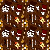 Halloween Holiday Skull Element Pattern