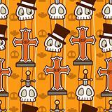 Halloween Skull Cross