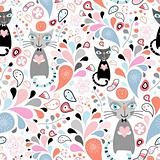 abstract texture with cats