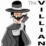 Evil Villain Mustache Man