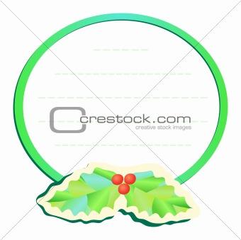 frame with mistletoe