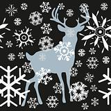 deer and snowflakes