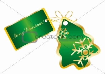 green card in the shape of a tree