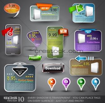 Set of Various Design Elements for Web