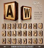 Vintage Domino Style Alphabet 3D 