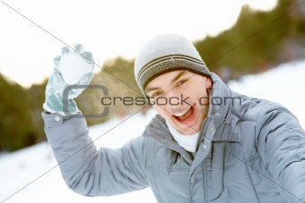 Guy with snowball