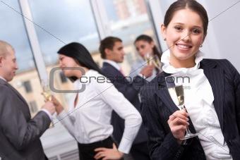 During celebration