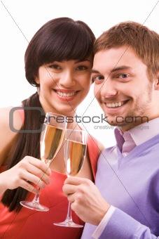 Celebrating couple