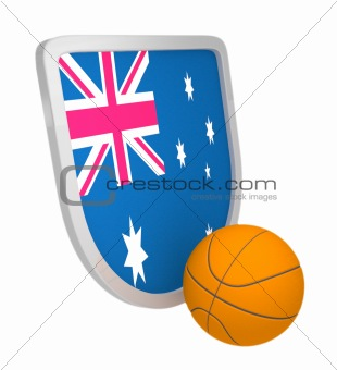 Australia shield basketball isolated