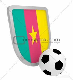 Cameroon shield soccer isolated