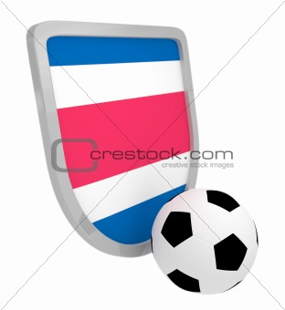 Costa Rica shield soccer isolated