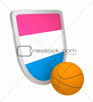 Croatia shield basketball isolated