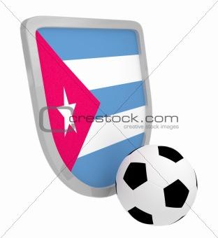 Cuba shield soccer isolated