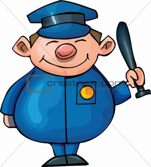 Cute Cartoon policeman