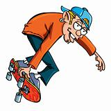 Cartoon of skater teen