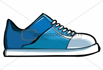 Blue sneaker or trainer
