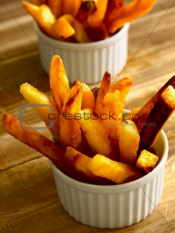 bowls of french fries