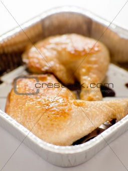 tray of grilled chicken
