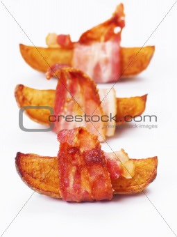 bacon wrapped roasted potatoes