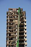 Demolishing high rise building