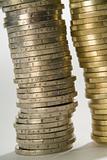 Euro coins column