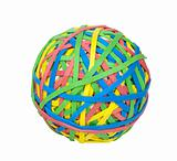 Ball of Rubber Bands - Photo Object