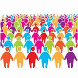 Big-crowd-of-many-colors-social-people-group