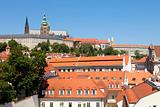 czech republic prague - lesser town (mala strana) and hradcany castle