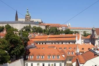 czech republic prague - lesser town (mala strana) and hradcany castle