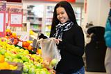 Asian Woman in Supermarket
