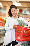 Woman Portrait in Supermarket